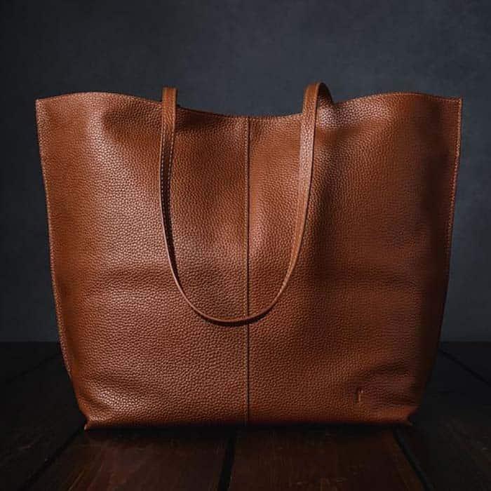 Furls Crochet Leather Project Bag in Tan