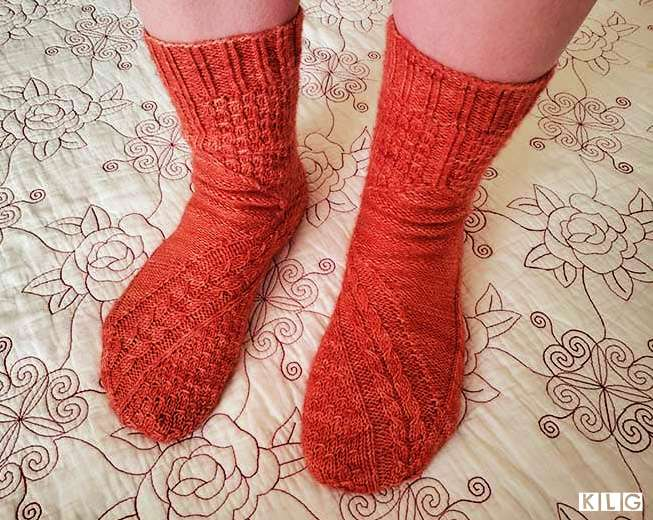Smaug Socks by Claire Ellen knitted by Jodie of Knit Like Granny