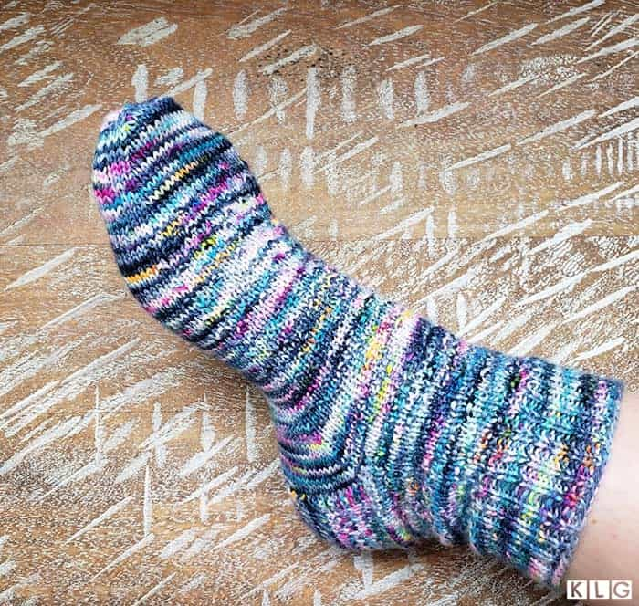 Hermione's Everyday sock in Hedgehog Fibres Firefly colorway