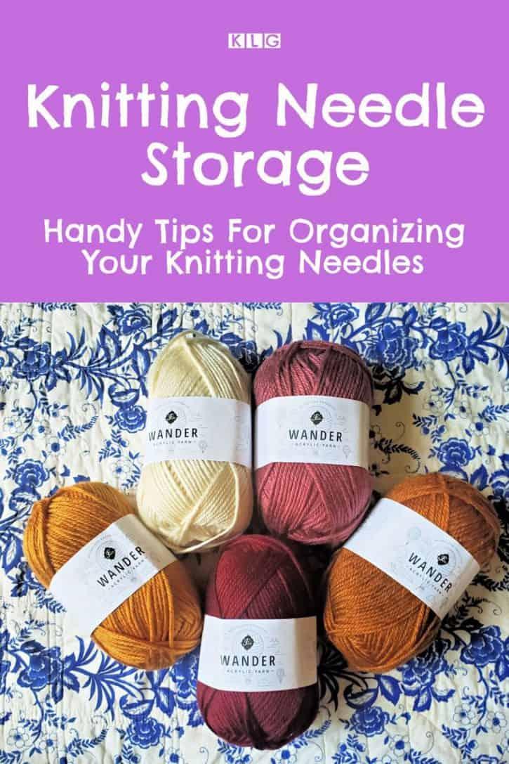 Knitting Needle Storage Pin