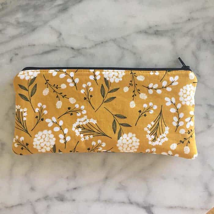 Fabric Zippered Pouch by Palm Trees and Paradise