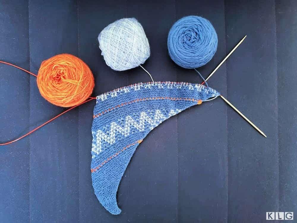Slip Knit Love Shawl Beginning