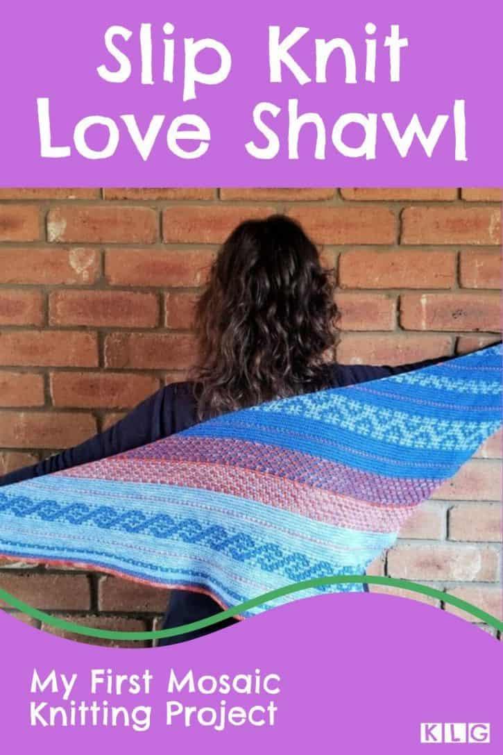 Slip Knit Love Shawl Pin