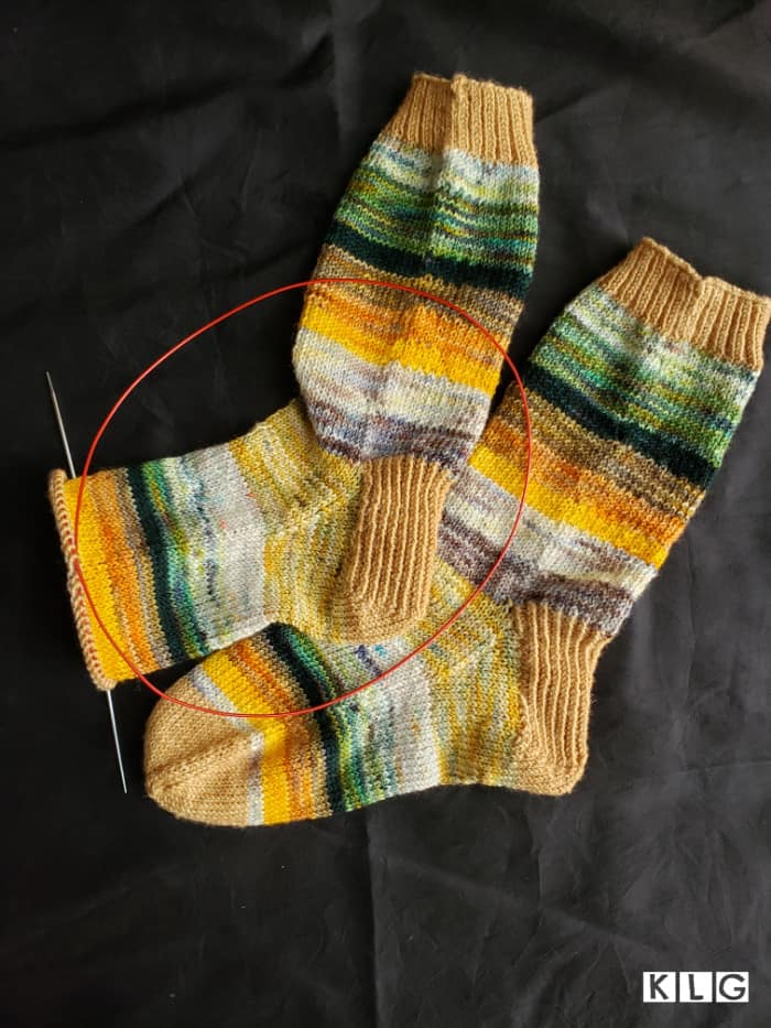 Almost Finished The Second Knit Sock