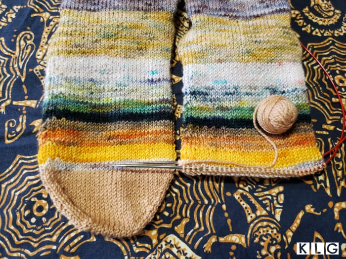Getting To The Heel Of The 2nd Knitted Sock