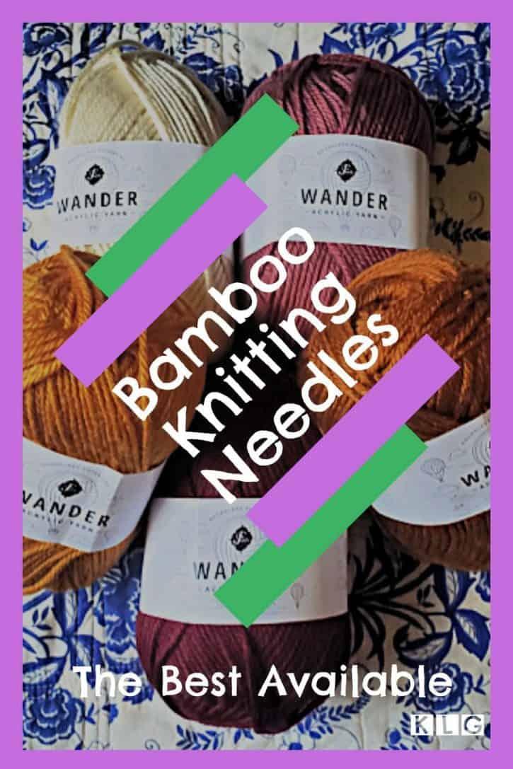 Bamboo Knitting Needles Pin