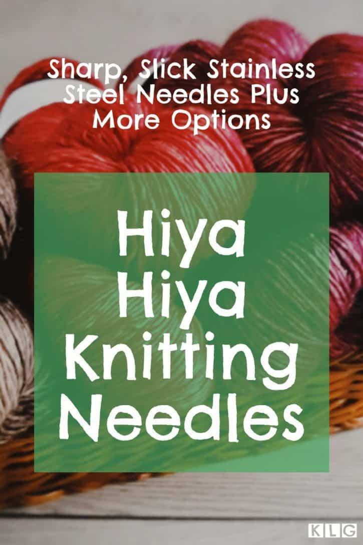 Hiya Hiya Knitting Needles Pin