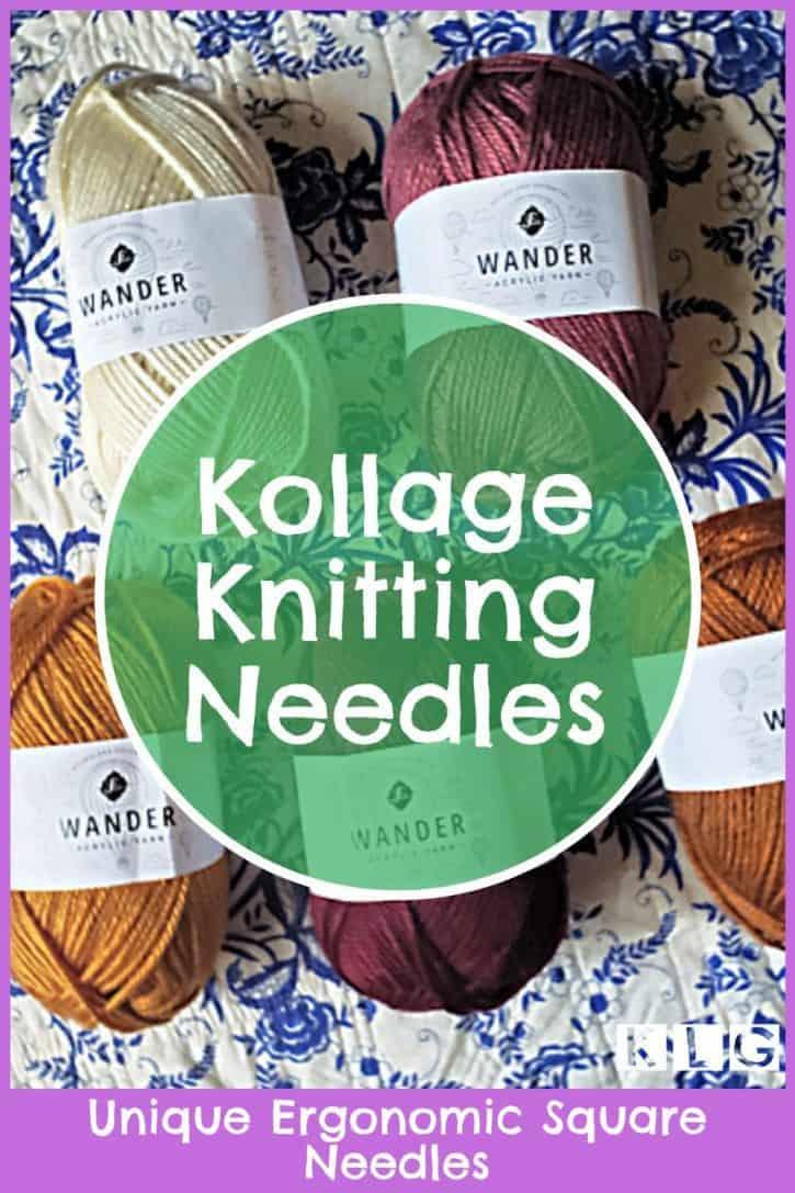 Kollage Knitting Needles Pin