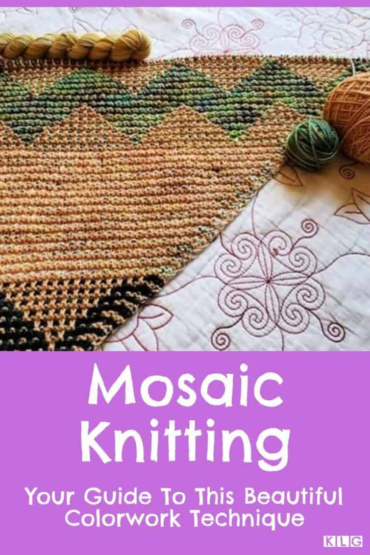 Mosaic Knitting Pin