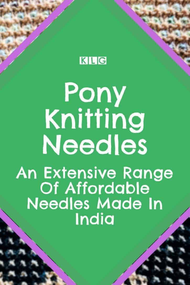 Pony Knitting Needles Pin