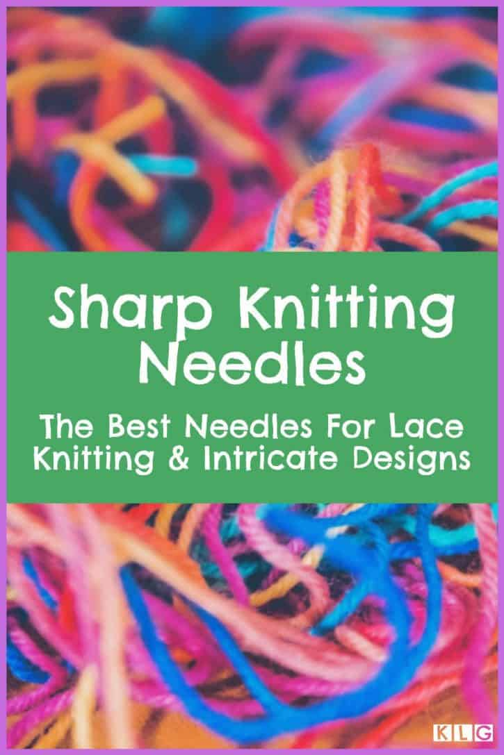 Sharp Knitting Needles Pin