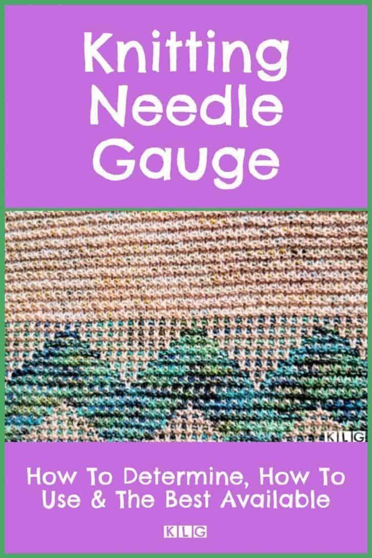 Knitting Needle Gauge Pin