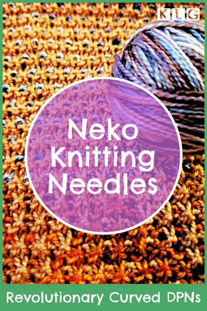 Neko Knitting Needles Pin