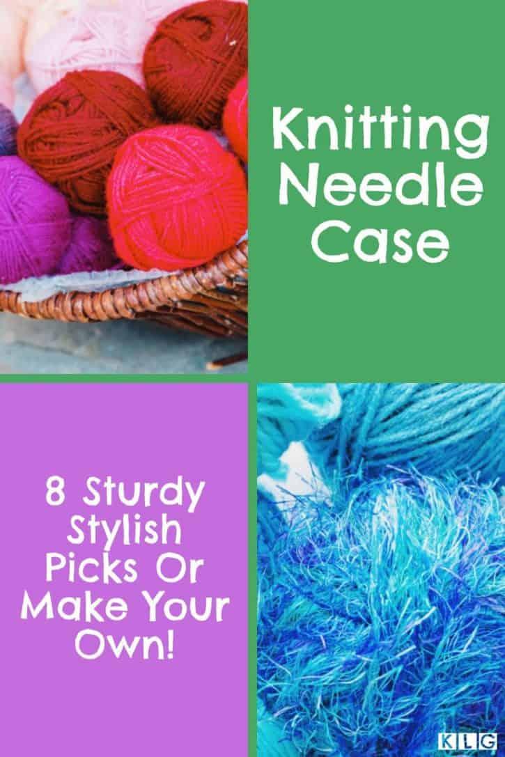 Knitting Needle Case Pin