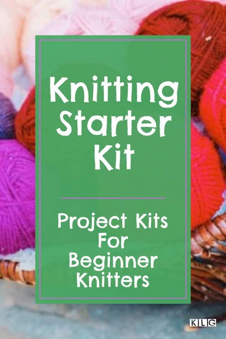 Knitting Starter Kit Pin