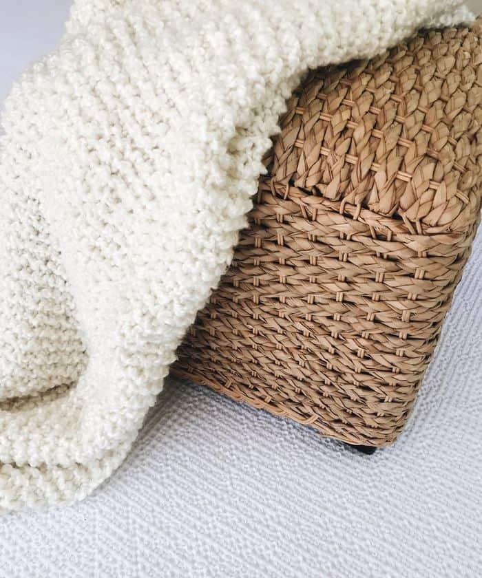 Bouclé Blanket Kit by Lion Brand Yarn in white