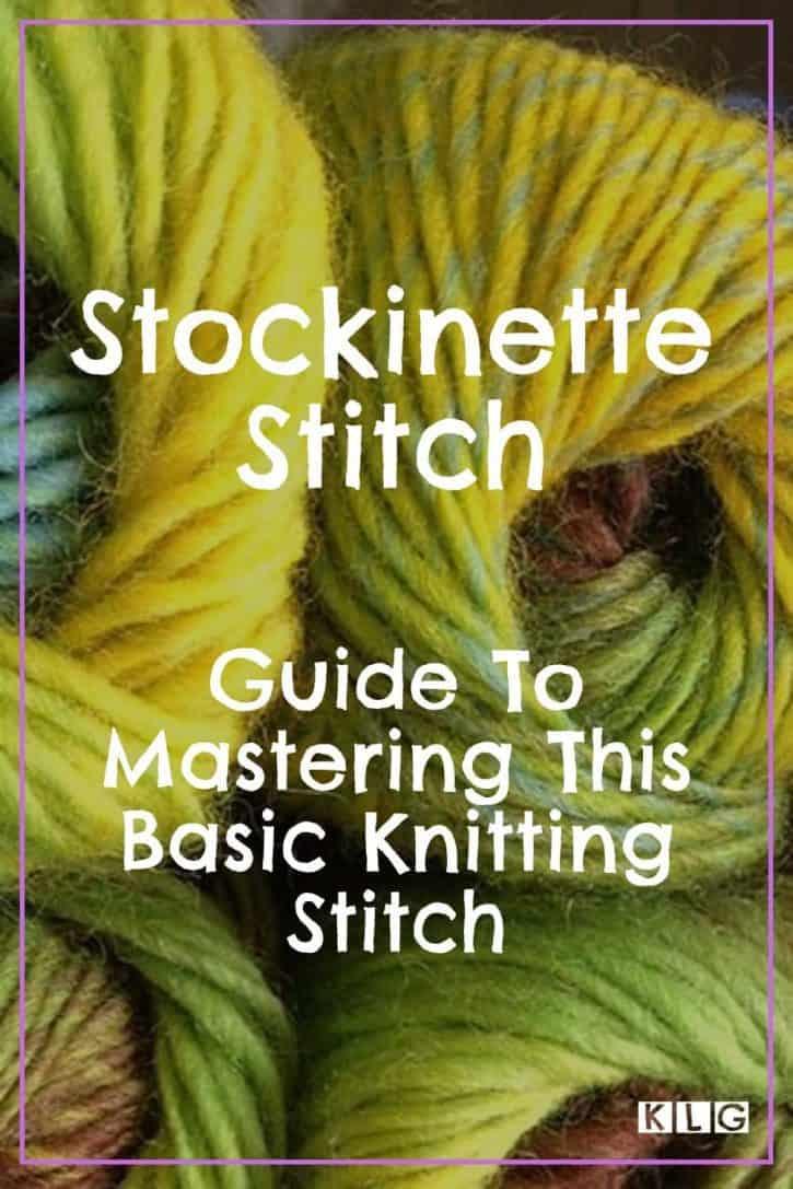 Stockinette Stitch Pin