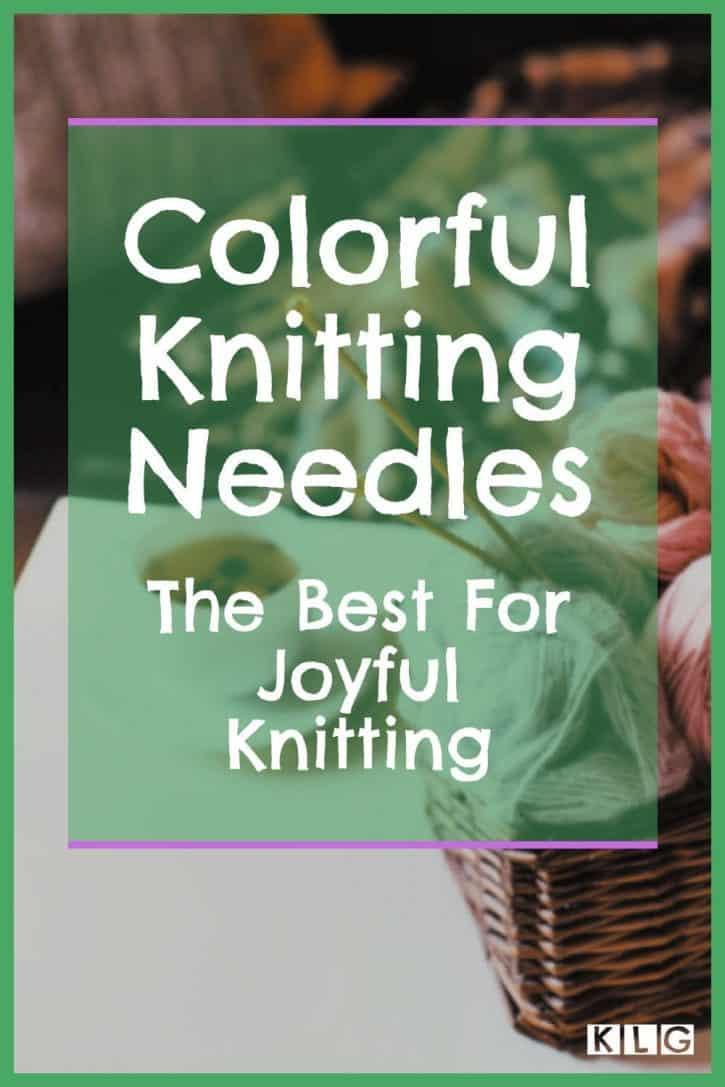 Colorful Knitting Needles Pin