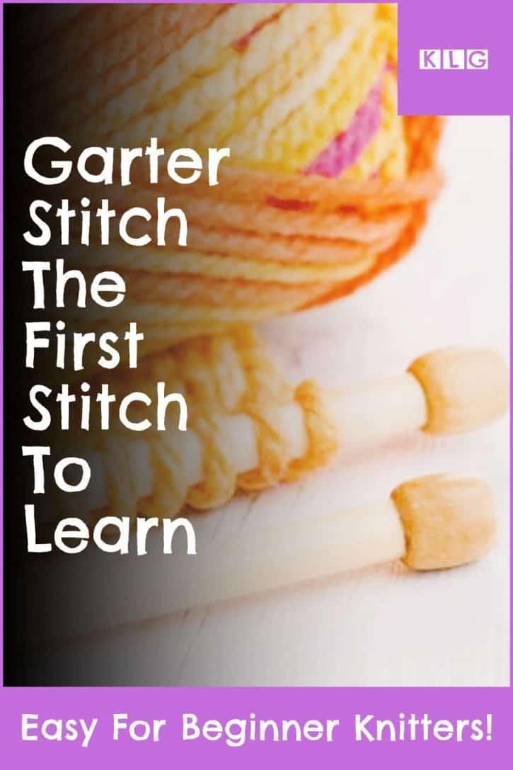 Garter Stitch Pin