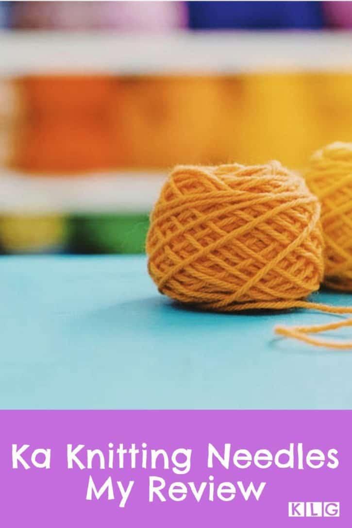 Ka Knitting Needles Pin