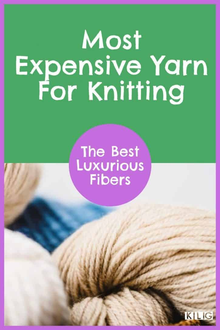 Most Expensive Yarn KLG Pin
