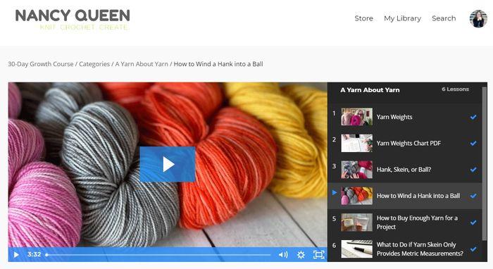 Nancy Queen 30 Day Growth Course A Yarn About Yarn screenshot