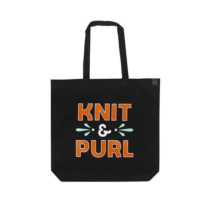 Knit Purl Tote Bag
