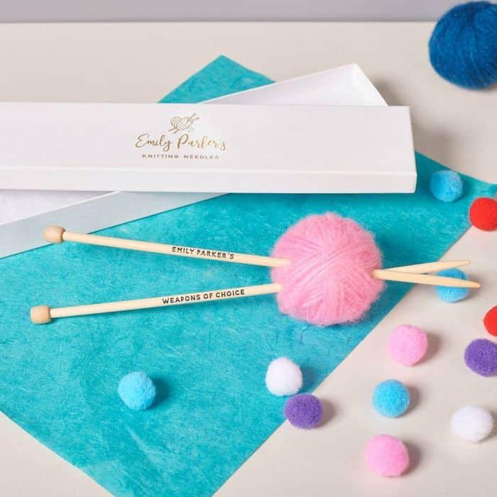 Personalized Bamboo Knit Needles
